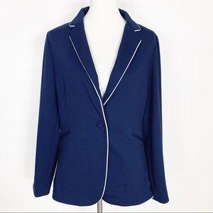 Adrienne Vittadini Navy Blue Blazer Large